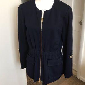 St. John Navy Zip Up Jacket